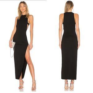 NBD Revolve Black Late Night Gown Maxi Dress Small